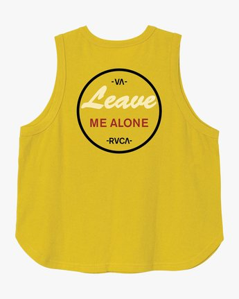 6 Leave Me Alone Tank Top Yellow W472TRLE RVCA