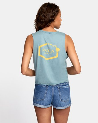 3 ISLAND HEX TANK TOP Grey W4741RIH RVCA