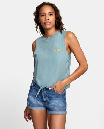 0 ISLAND HEX TANK TOP Grey W4741RIH RVCA