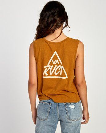1 Giza V-Neck Tank Top Orange W476VRGI RVCA