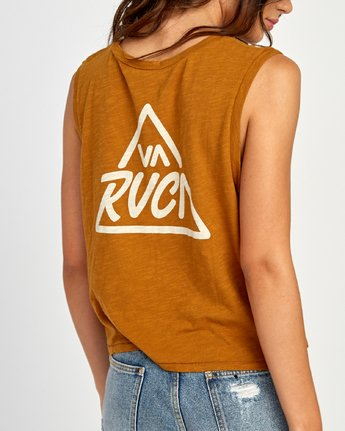 2 Giza V-Neck Tank Top Orange W476VRGI RVCA