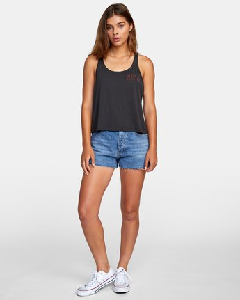 3 Alex Matus Dry Valley Tank Top Black W477WRDR RVCA