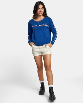 1 CANNONBALL LONG SLEEVE T-SHIRT Blue W4791RCA RVCA