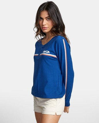 2 CANNONBALL LONG SLEEVE T-SHIRT Blue W4791RCA RVCA