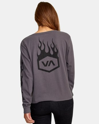 3 Forged Long Sleeve Henley T-Shirt Multicolor W479WRFO RVCA