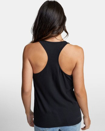 3 PATCH SEAL TANK TOP Black W4811RPS RVCA