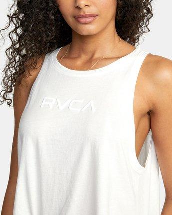 2 SMALL RVCA TANK White W4843RSR RVCA