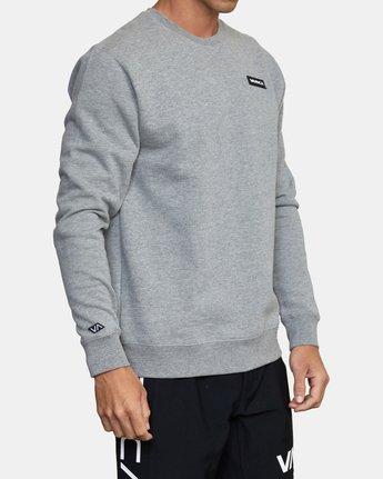 3 VA Sport - Sweatshirt for Men Grey W4CRMARVP1 RVCA