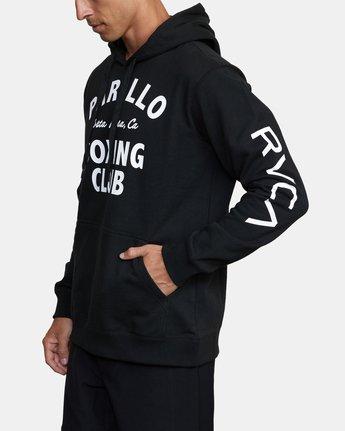 3 VA Sport Parillo Boxing Club - Hoodie for Men Black W4HOMBRVP1 RVCA