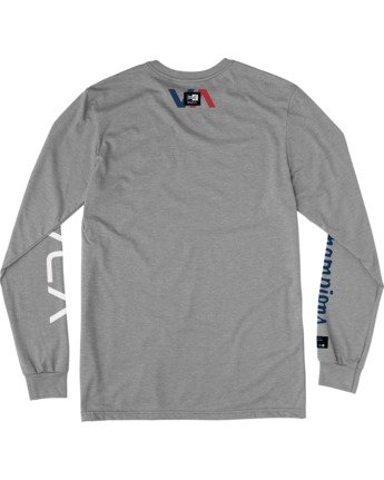 1 Everlast x Everlast Stack Patch - Long Sleeve T-Shirt for Men Grey W4LSMBRVP1 RVCA