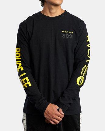 2 Bruce Lee As You Think - T-shirt manches longues pour Homme Noir W4LSMERVP1A RVCA