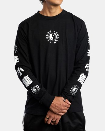 2 Bruce Lee Eighty Years - Long Sleeve T-Shirt for Men Black W4LSMFRVP1A RVCA