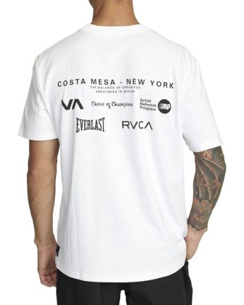 3 Everlast x RVCA - T-Shirt for Men White W4SSMJRVP1 RVCA