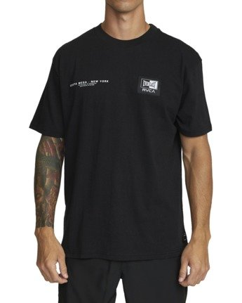 2 Everlast x RVCA - T-Shirt for Men Black W4SSMJRVP1 RVCA