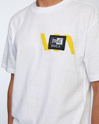 4 Everlast x RVCA Stack Patch - T-Shirt for Men White W4SSMLRVP1 RVCA