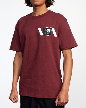 5 Everlast x RVCA Stack Patch - T-Shirt for Men Brown W4SSMLRVP1 RVCA
