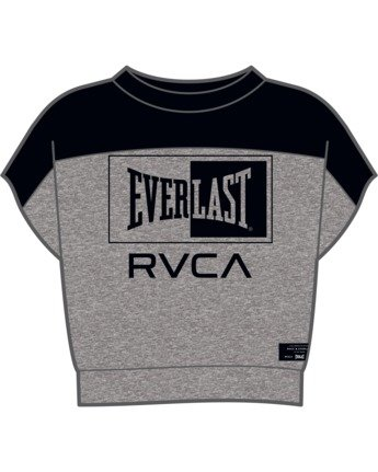 4 Everlast x RVCA - Cropped Sweatshirt for Women Grey W4TPWBRVP1 RVCA