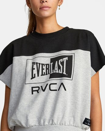 2 Everlast x RVCA - Cropped Sweatshirt for Women Grey W4TPWBRVP1 RVCA