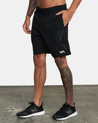 3 Everlast x RVCA - Sweat Shorts for Men Black W4WKMGRVP1 RVCA