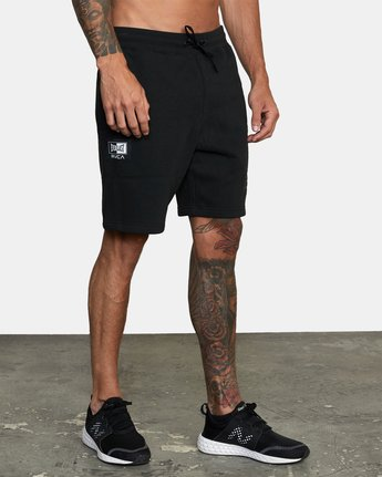 6 Everlast x RVCA - Sweat Shorts for Men Black W4WKMGRVP1 RVCA