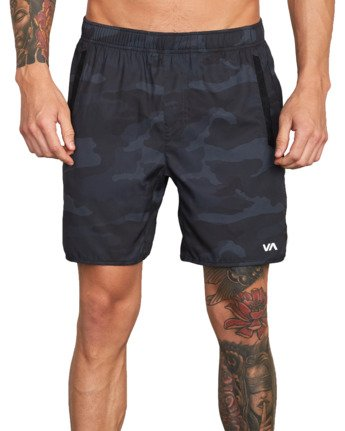 "7 Yogger IV 17"" - Workout Shorts for Men Camo W4WKMLRVP1 RVCA"