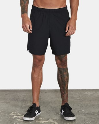 "1 Yogger IV 17"" - Workout Shorts for Men Black W4WKMLRVP1 RVCA"
