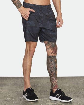 "4 Yogger IV 17"" - Workout Shorts for Men Camo W4WKMLRVP1 RVCA"
