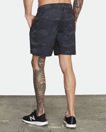 "5 Yogger IV 17"" - Workout Shorts for Men Camo W4WKMLRVP1 RVCA"