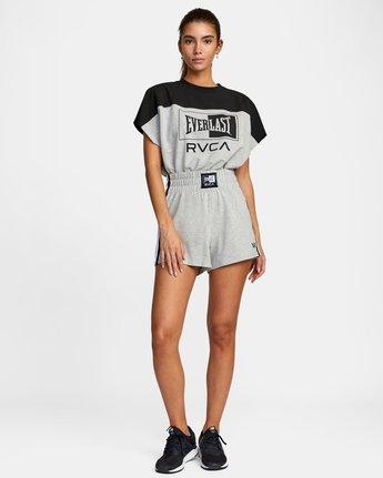 3 Everlast x RVCA - Sweat Shorts for Women Grey W4WKWBRVP1 RVCA