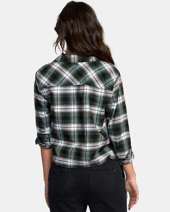 2 Daten Plaid Button-Up Shirt Black W501WRDA RVCA