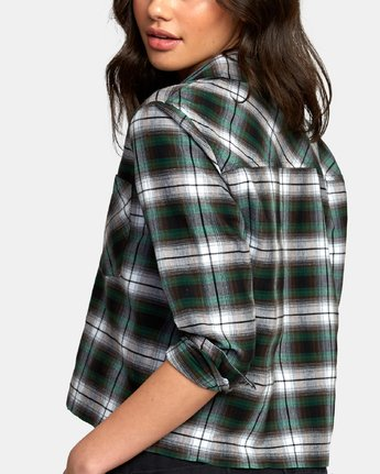 2 Daten Plaid Button-Up Shirt Black W501WRDA RVCA
