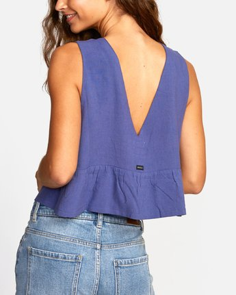 3 EASTERN TANK TOP Blue W5041REA RVCA