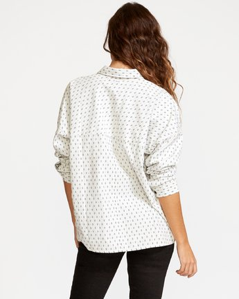 2 Hera Oversized Button-Up Shirt White W504VRHE RVCA