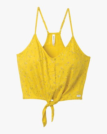 5 Your Escape Printed Tank Top Yellow W505TRYE RVCA