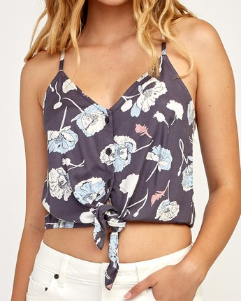 4 Your Escape Printed Tank Top Grey W505TRYE RVCA