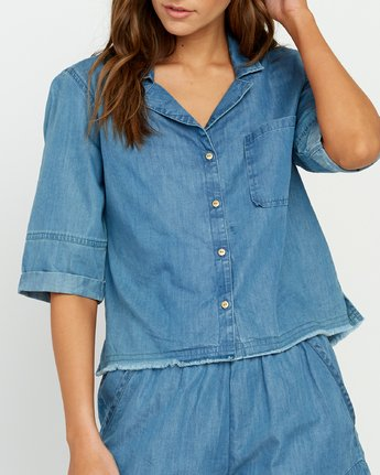 3 Inner Thoughts Chambray Shirt  W505URIN RVCA