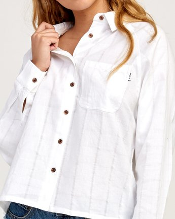 4 Winging It Woven Button-Up Shirt White W507TRWI RVCA