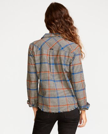 2 Jordan Plaid Button-Up Shirt Grey W508VRJO RVCA