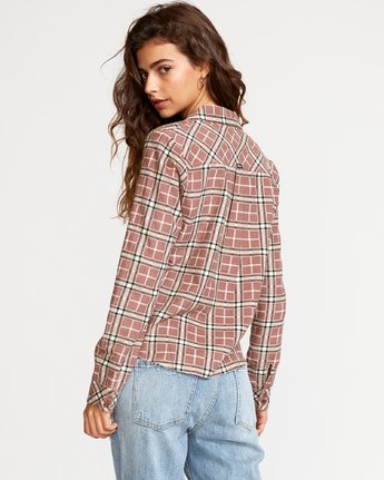 4 Jord Corduroy Plaid Shirt White W509VRJC RVCA