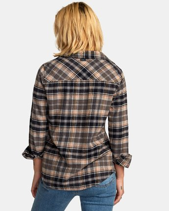 2 Aspen Plaid Flannel Shirt  W509WRAS RVCA
