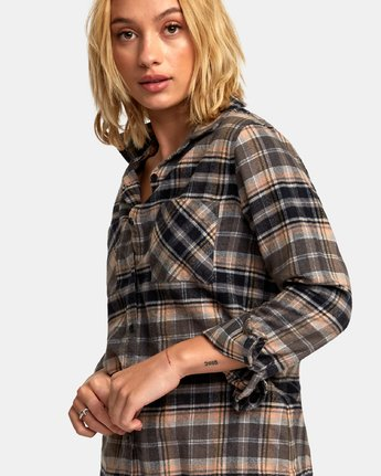 3 Aspen Plaid Flannel Shirt  W509WRAS RVCA
