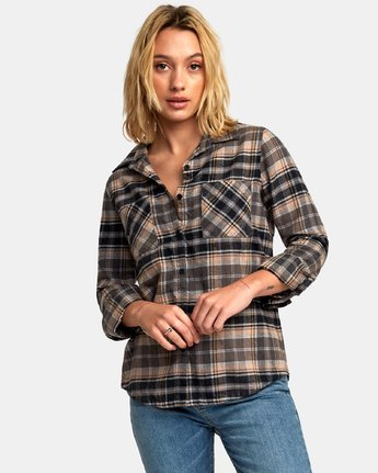 0 Aspen Plaid Flannel Shirt  W509WRAS RVCA