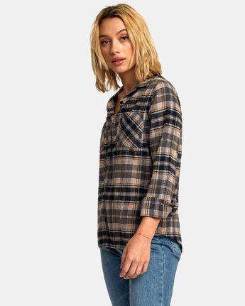 1 Aspen Plaid Flannel Shirt  W509WRAS RVCA