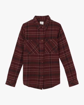 5 Roam Plaid Flannel Pink W510SRRO RVCA