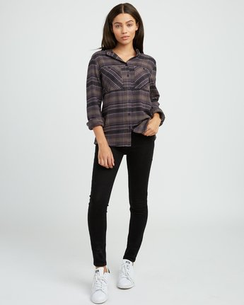4 Roam Plaid Flannel Black W510SRRO RVCA