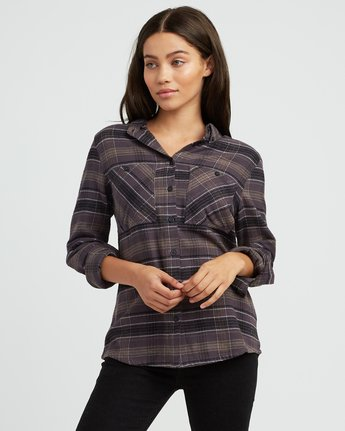 0 Roam Plaid Flannel Black W510SRRO RVCA