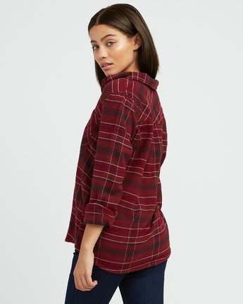 2 Roam Plaid Flannel Pink W510SRRO RVCA