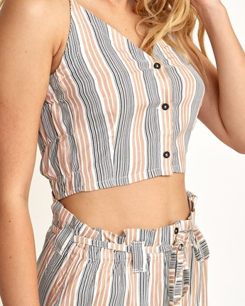 3 Liberty Striped Crop Top Beige W510TRLI RVCA