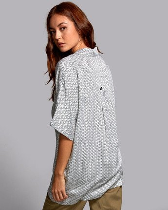 3 DECAY OVERSIZED BUTTON-UP SHIRT White W5141RDE RVCA