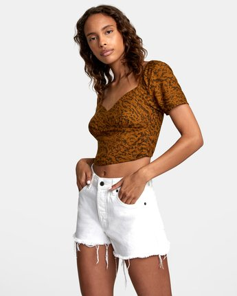 2 NO MATTERS TOP Brown W5412RNM RVCA